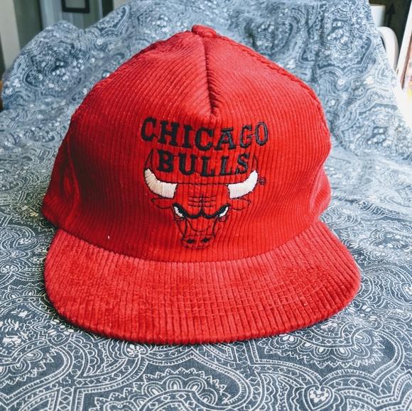 8d291dfbfea858 Vintage Accessories | Chicago Bulls Corduroy Snapback Hat | Poshmark